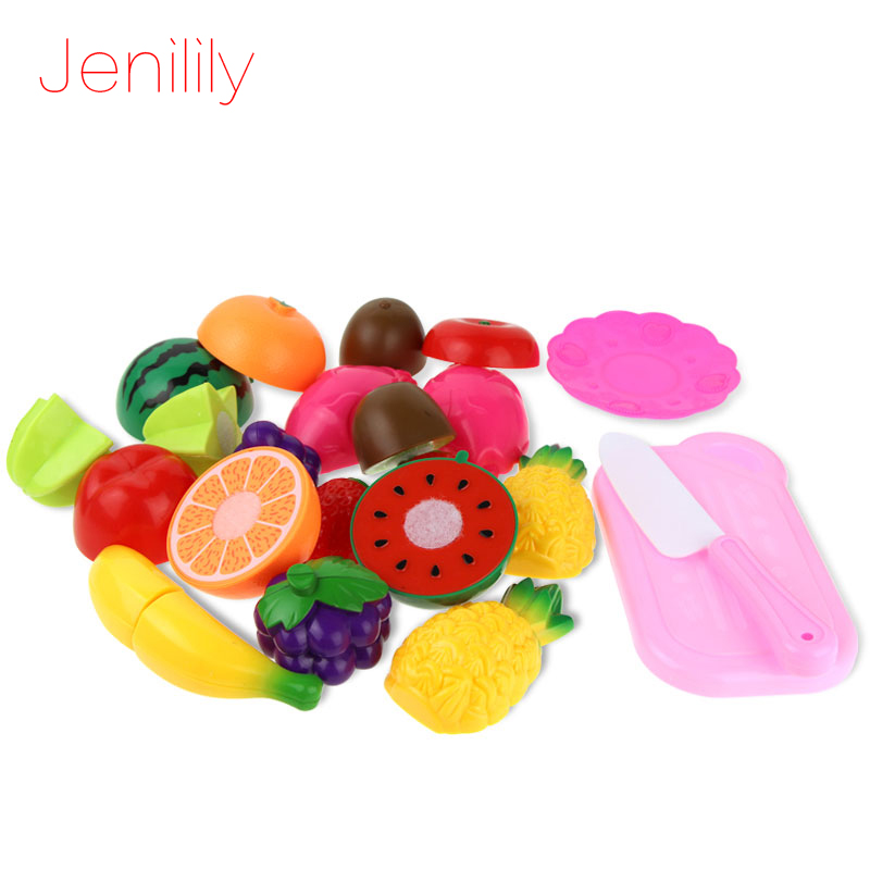 13pcs/Set Children Kitchen Pretend Play Toys Cutting Fruit Vegetable Miniature Play Do House Education Toy Gift for Girl Kids