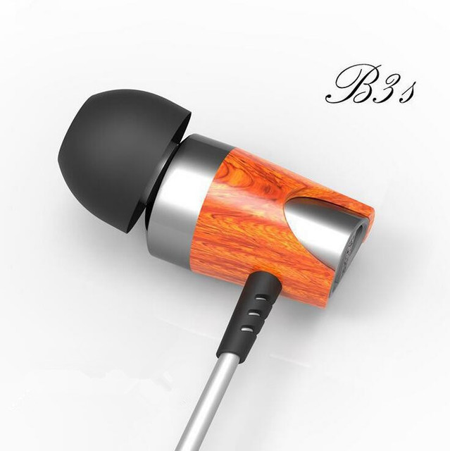 2016 BOSSHIFI B3s Dynamic and Armature 2 unit Wood Earbuds HIFI Red Wooden  Moving Iron&Coil  In Ear Earphone B3S Wooden Headset