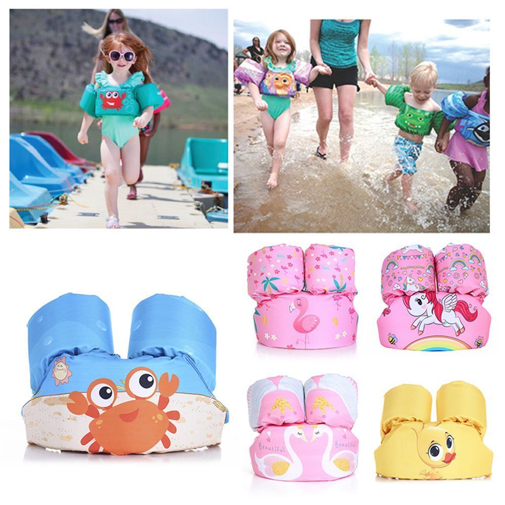 Baby swimwear baby puddle jumper kids water sports life jacket life vest Encrypted Cartoon coated life jacket