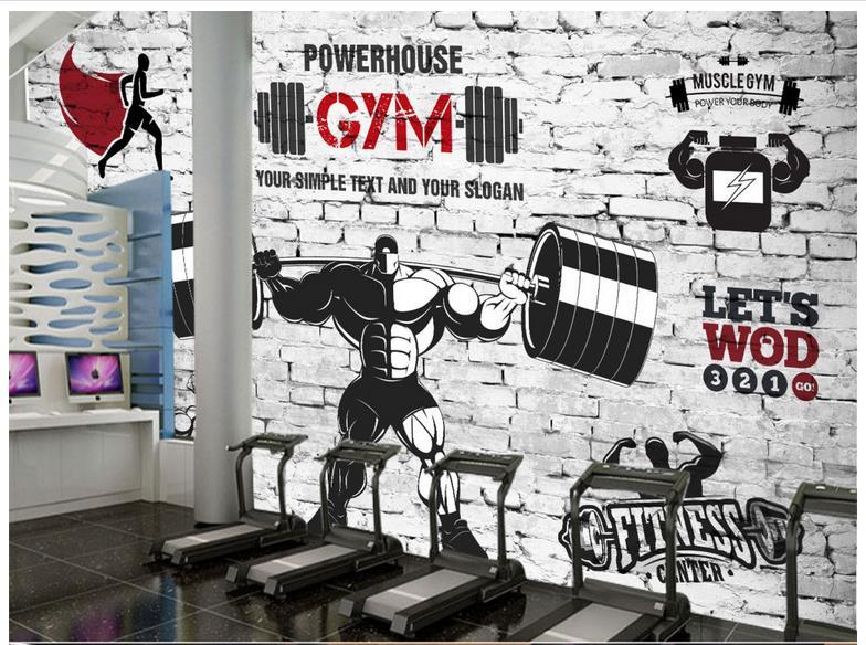 3d photo wallpaper 3d murals wallpaper for walls 3 d gym for Club de suscriptores mural