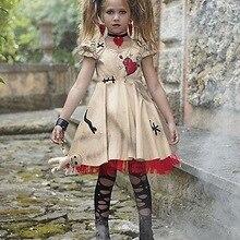 Vampire Cosplay Witch Costume Disfraz Wedding-Ghost Voodoo Flower-Girl Kids for Bride