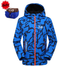 цена на Winter Spring  DAIWA Fishing Clothing Jacket Outdoor Sports Jersey Men Keep Warm Sunproof Fishing Climbing Hiking