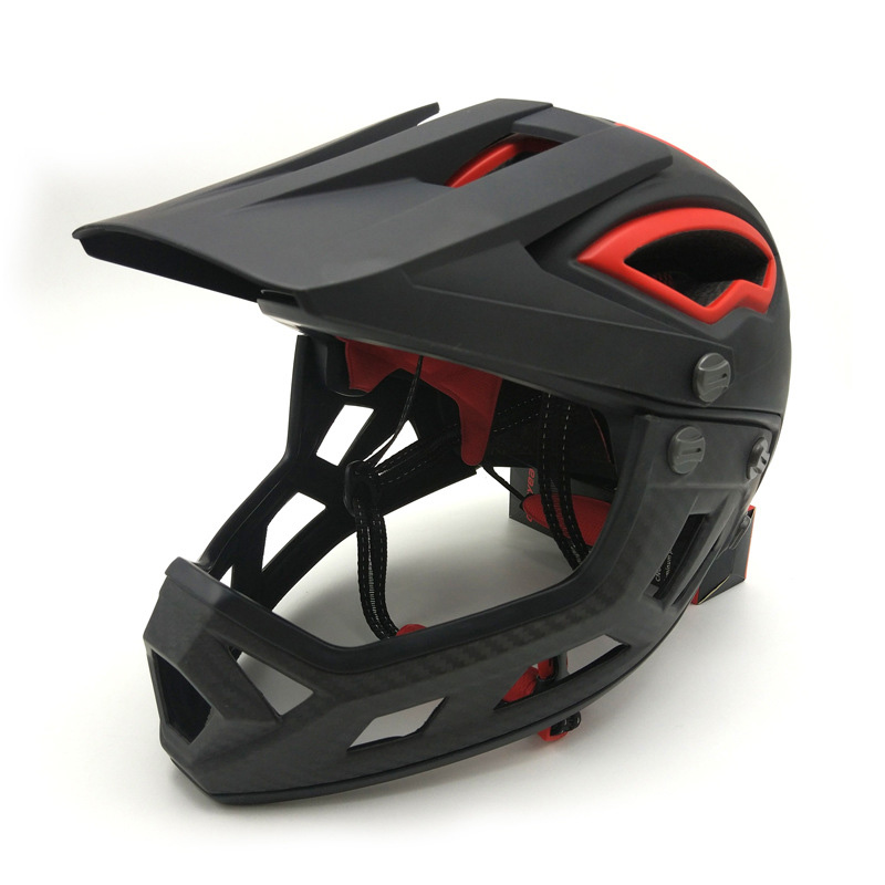 Adults Trainer Full Face Flip Up Racing Bicycle Helmet Downhill DH Fullface Motorcycle Avt MTB Mountain Safety Cycling Helmet