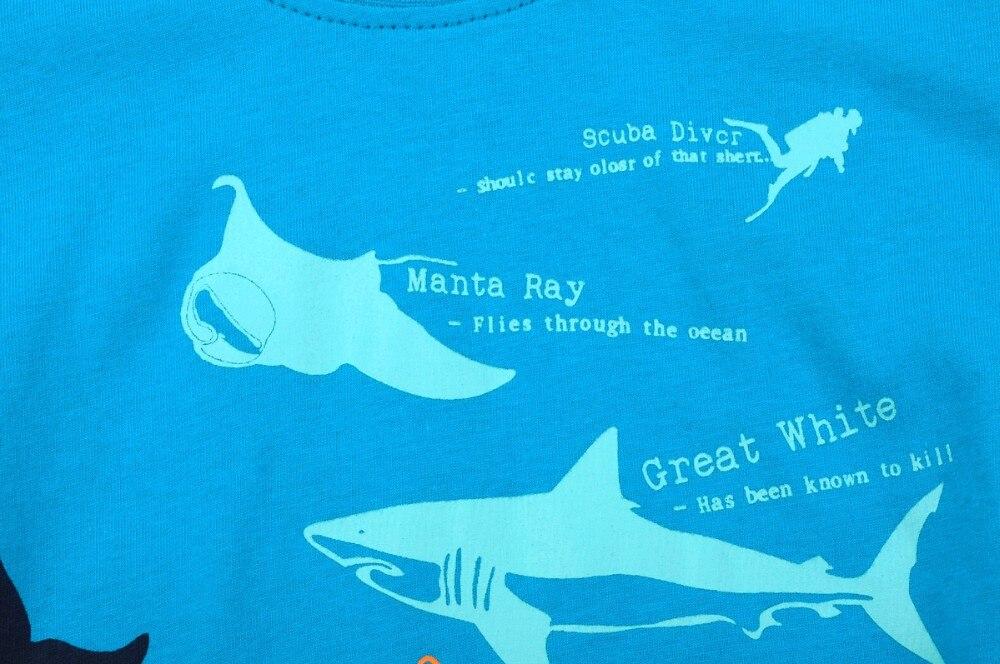 Baby Boys Childrens Scuba Diver Shark Printed Long Sleeve 100/% Cotton Infants T-Shirts