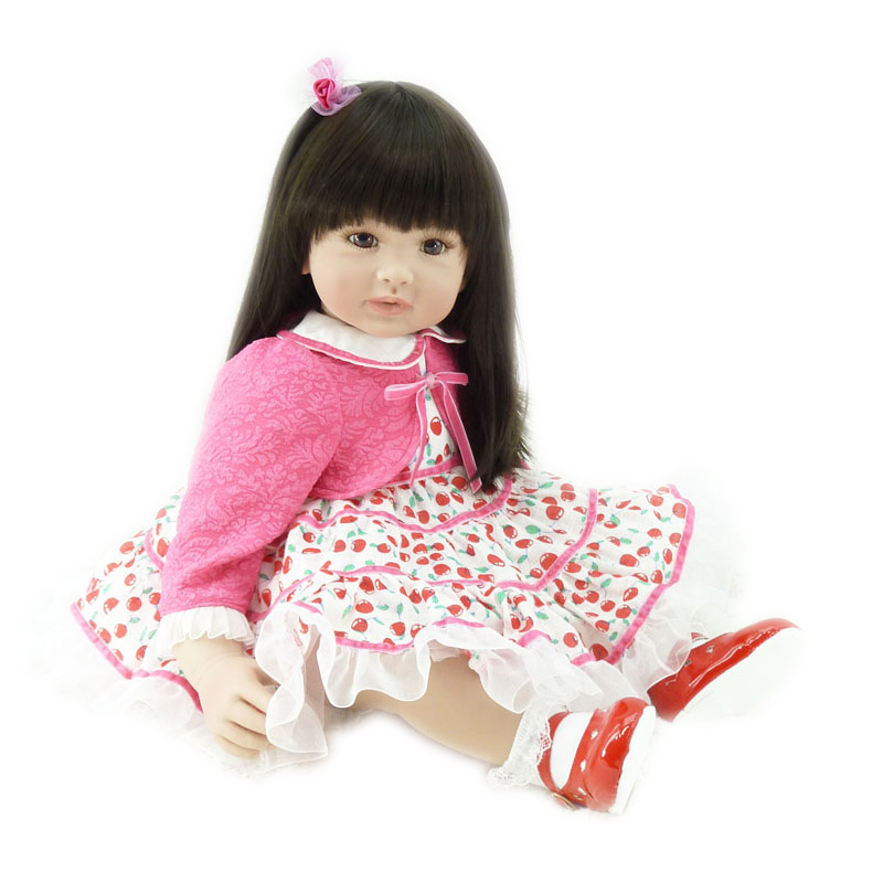 Adora Girly Girl Dark Brown Hair with Brown Eyes 22 Baby Doll Lovely Reborn Baby Girls Brinquedos