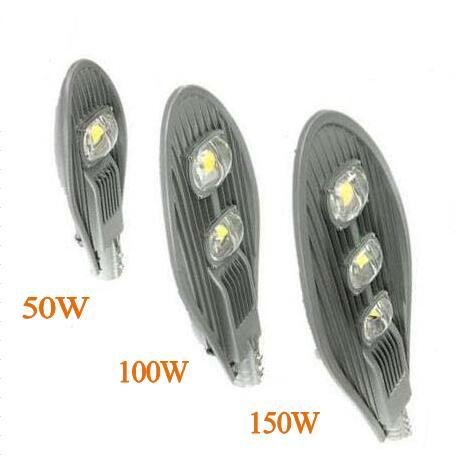 1 stücke High Power COB Led Straßenlampen 50 Watt 100 Watt 150 Watt Led Außenbeleuchtung AC85 265V Warm/kaltes Weiß CE ROHS-in Straßenbeleuchtung aus Licht & Beleuchtung bei