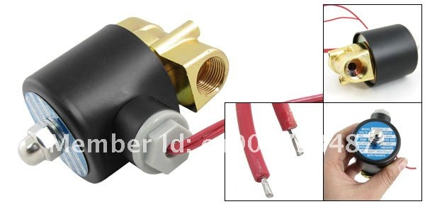 """5 шт. 110 В переменного тока 3/"""" Электрический соленоидный латунный клапан воды воздуха N/C газа воды воздуха 2W040-10"""