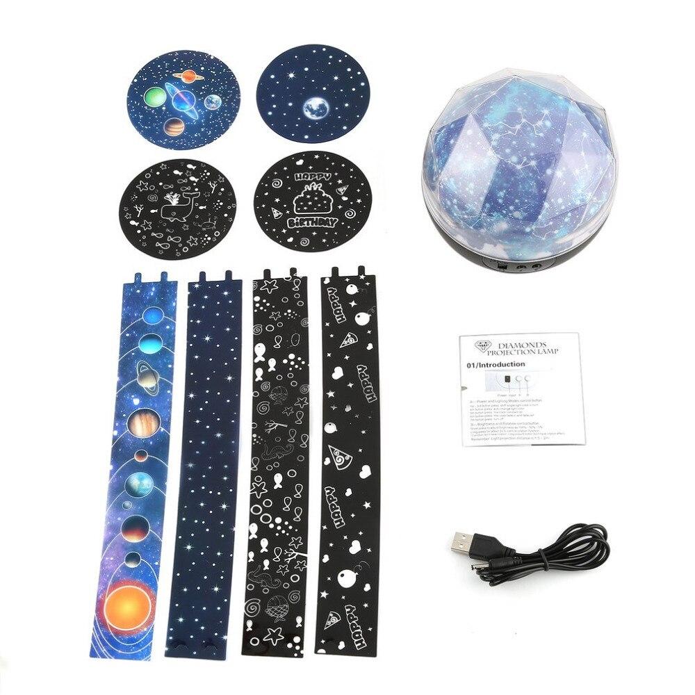Diammable Usb Батарея ночник звездное небо Galaxy лампы проектора для Для детей Спальня прикроватной тумбочке украшения свет