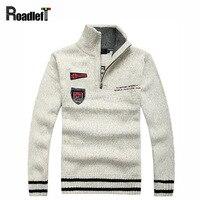 Top Brand 2014 Autumn Winter Men S Fashion Casual Sweaters 100 Wool Thickening Sweaters Men Mandarin