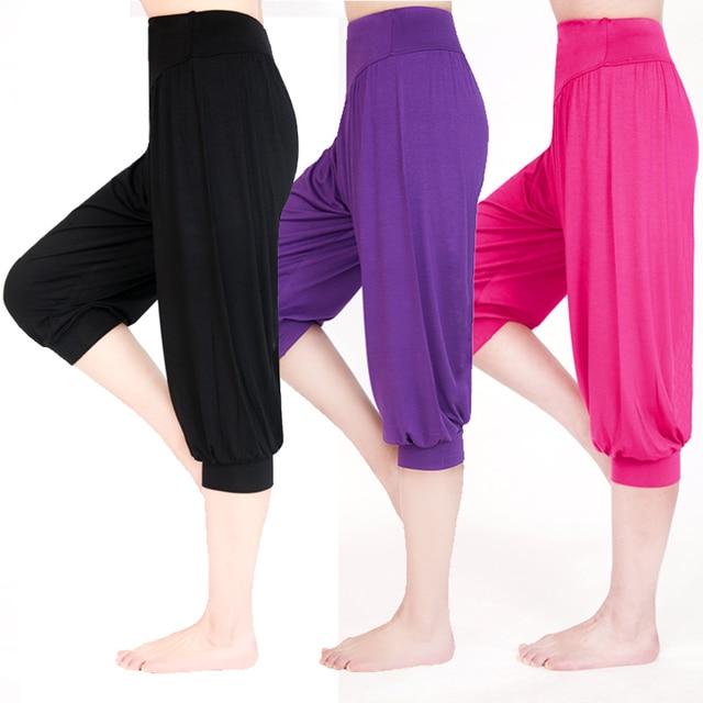 Women Yoga Pants Women Plus Size yoga leggings Colorful Bloomers Dance Yoga TaiChi Full Length Pants Modal Pants yoga clothes