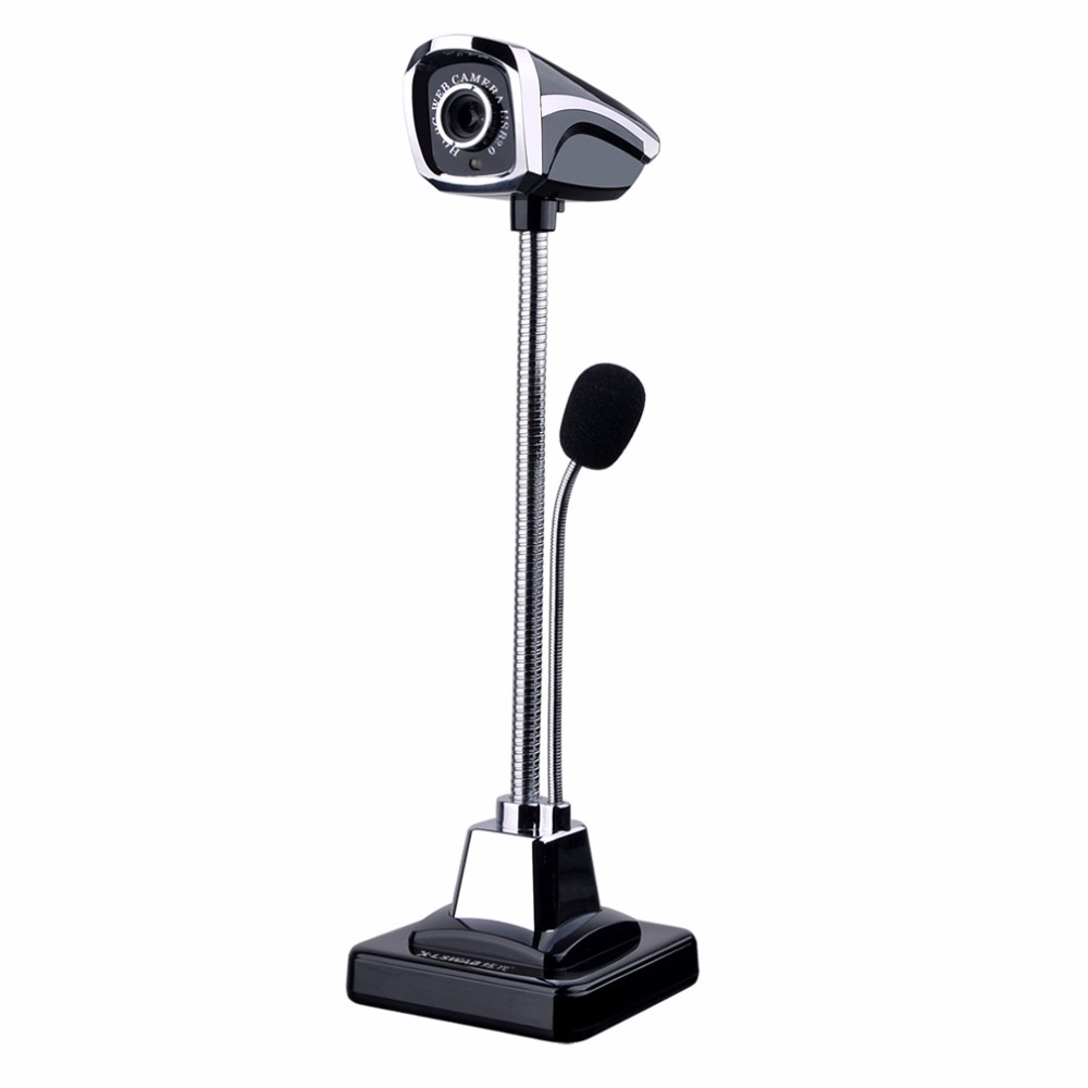 USB 2.0 Wired Webcams PC Laptop web camera 12 Million Pixel Video Camera With Microphone Adjustable Angle HD LED Night Vision