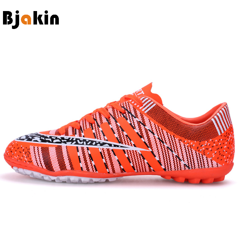 Bjakin Cleats Men Football Shoes Skidproof Broken Nails Soccer ball Shoes Kids Cleats Indoor Soccer Shoes Cheap Chuteira