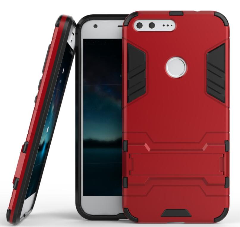 For Google Nexus 6P Hybrid Silicone PC Rugged Armor Back Cover For Google Pixel XL Shockproof Stand Case For Google Nexus 5X