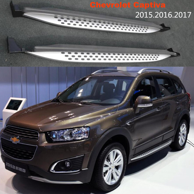 For Chevrolet Captiva 2017 2016 Car Running Boards Auto Side Step Bar Pedals High Quality