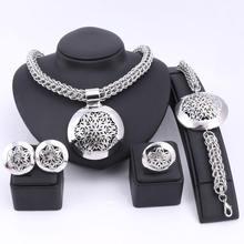 Новейшие Роскошные Большие серебряные Ювелирные наборы из Дубая