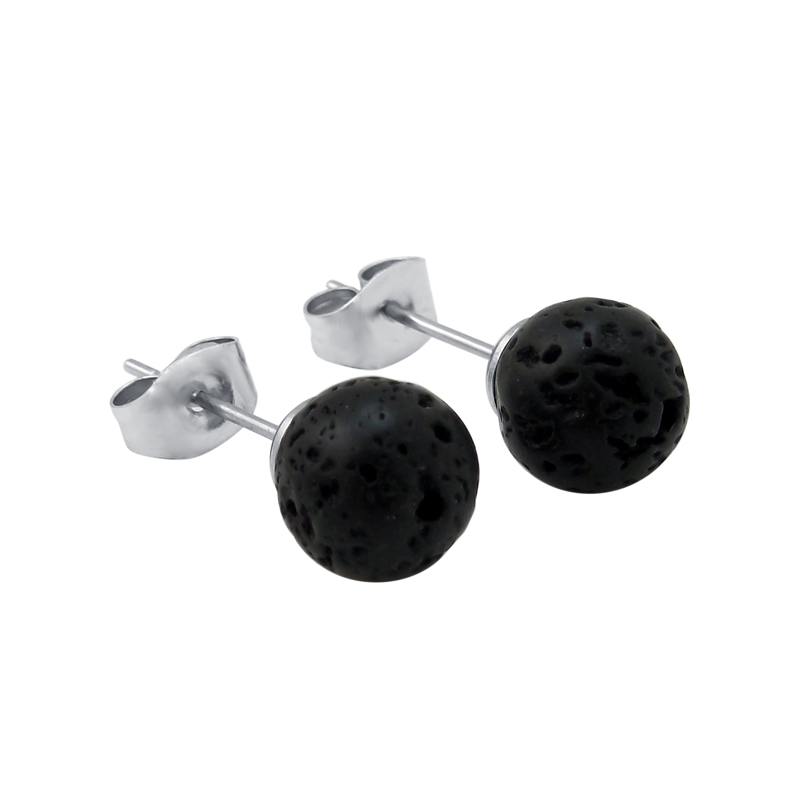 Lava Stone Earrings Aromatherapy Essential Oil Diffuser earring with Stainless Steel earrings For Women Jewelry Making