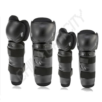 4pcs/set Motorcycle Racing Motocross Protective Gear Knee Elbow Shin Pads Cap Guards Armor Joint Protector H23 1 pair protective cycling guards waterproof gear safety adjustable equipment riding thicken warm motorcycle knee pads pu racing