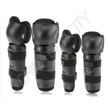 4pcs/set Motorcycle Racing Motocross Protective Gear Knee Elbow Shin Pads Cap Guards Armor Joint Protector H23