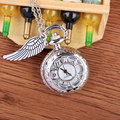 Fashion New Arrived Silver Quartz Small Pocket Watch Flower Hollow with Wing  Design Pocket Watch With Necklace Chain Mens Gifts