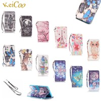 Rhinestone 3D Pattern PU Leather Covers For SAMSUNG Galaxy Win 2 Duos TV G360BT Art Printing