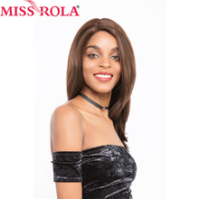 Miss Rola Hair Pre-colored Brazilian 100% Hair Straight Non-remy Wigs for Women Lace Wigs #2/4 Free Shipping