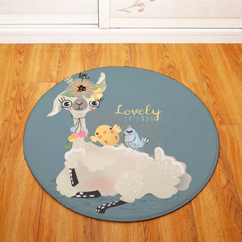 Альпака круглый ковер дети играть палатку тренажерный зал ковер спальня гостиная кофе ковер напольный коврики/детский коврик для ползанья