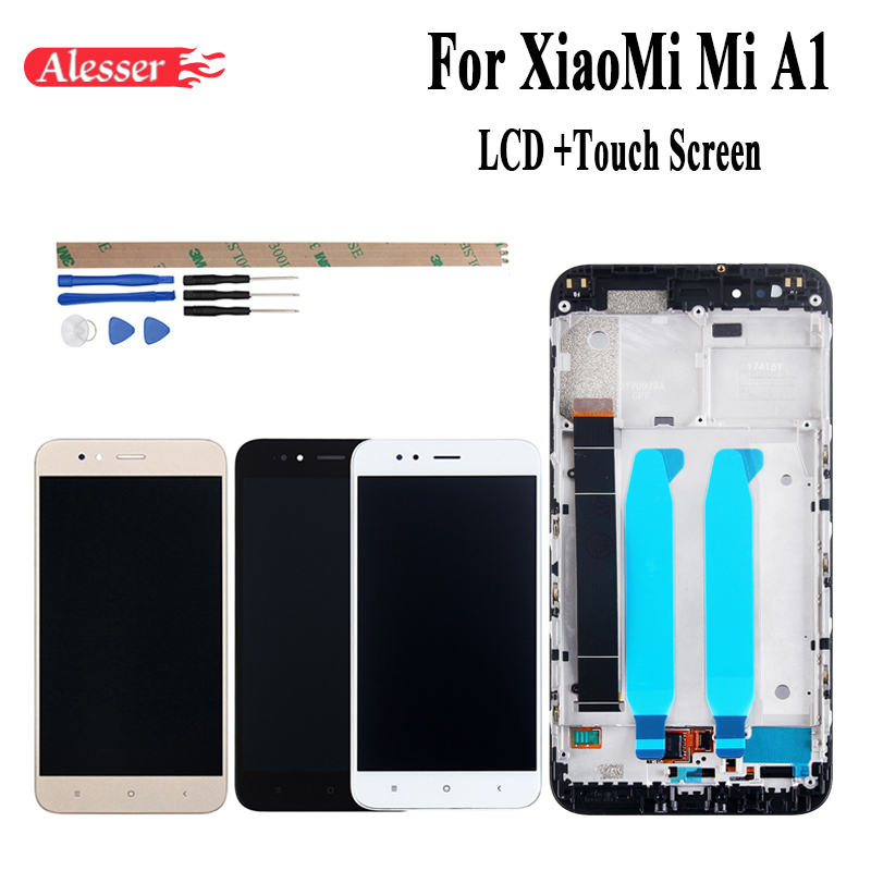 Alesser For XiaoMi Mi A1 LCD Display and Touch Screen +Frame Assembly Repair Parts 5.5 Replacement Phone Accessory+Tools+TapesAlesser For XiaoMi Mi A1 LCD Display and Touch Screen +Frame Assembly Repair Parts 5.5 Replacement Phone Accessory+Tools+Tapes