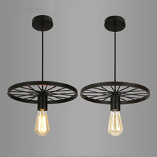 Retro Loft industrial lamp Restaurant dining room cafe Bar pendant light clothing store shop pendant lamp creative wheel light