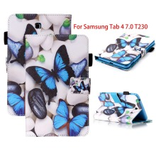SM-T230 SM-T231 Case For Samsung Galaxy Tab 4 7.0 inch PU Leather Tablet Cover For Samsung Galaxy Tab 4 7.0 T230 T231 T235 Case xskemp tablet screen protector film tablet for samsung galaxy tab 4 7 0 t230 t231 t235 9h real tempered glass protective guard