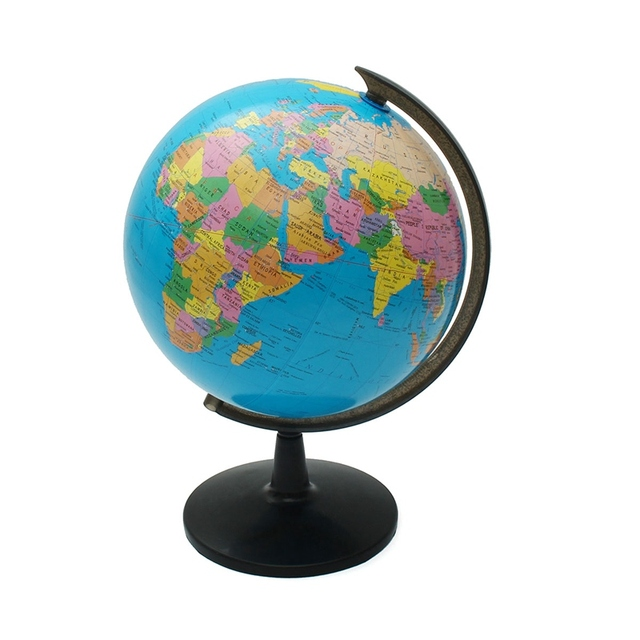 Modern 32cm world globe map ornaments with swivel stand world map modern 32cm world globe map ornaments with swivel stand world map geography study home office shop gumiabroncs Image collections