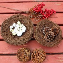 Fake Bird Nest Bird Cage Home Decoration Prop Creative Marriage Proposal Handicrafts Wedding Photography Props Home Decor(China)