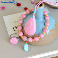 Оптовая подлинной розовый Натуральный камень Ювелирные наборы капли воды кулон Цепочки и ожерелья со стороны строки кольцо для Для женщин