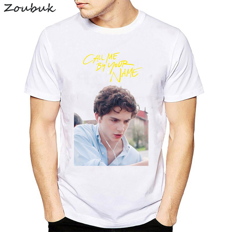 call me by your name New Arrival 2018 Men Fashion Print T-Shirt Short Sleeve Casual Design T Shirt male Hipster Cool Tops tee