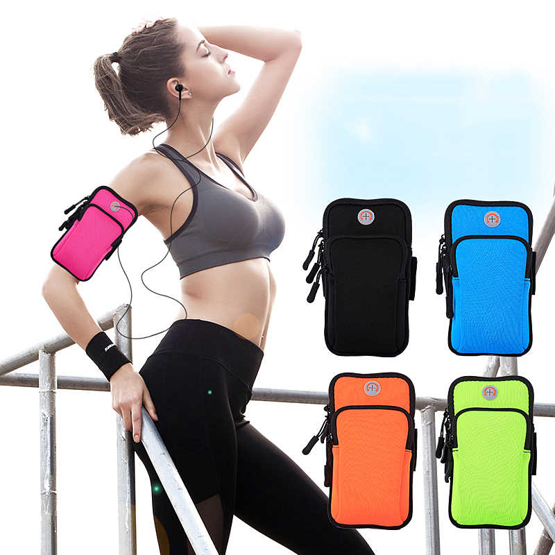 "Sport Arm Phone Bag Case Zippered Fitness Running Phone Bag Pouch Jogging Workout Cover For Phone Below 5.7"" Smart Phone Bag"
