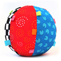 Free shipping, Colorful Baby Children's Ring Bell Ball Baby Toy Ball, Educational cotton Bell Ball Toys HT204