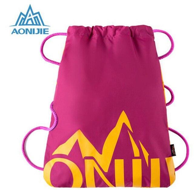 AONIJIE E842 Waterproof Drawstring Bag Women Men Running Sports Bag Backpack for Outdoor Hiking Camping Travel Bag SoftBack