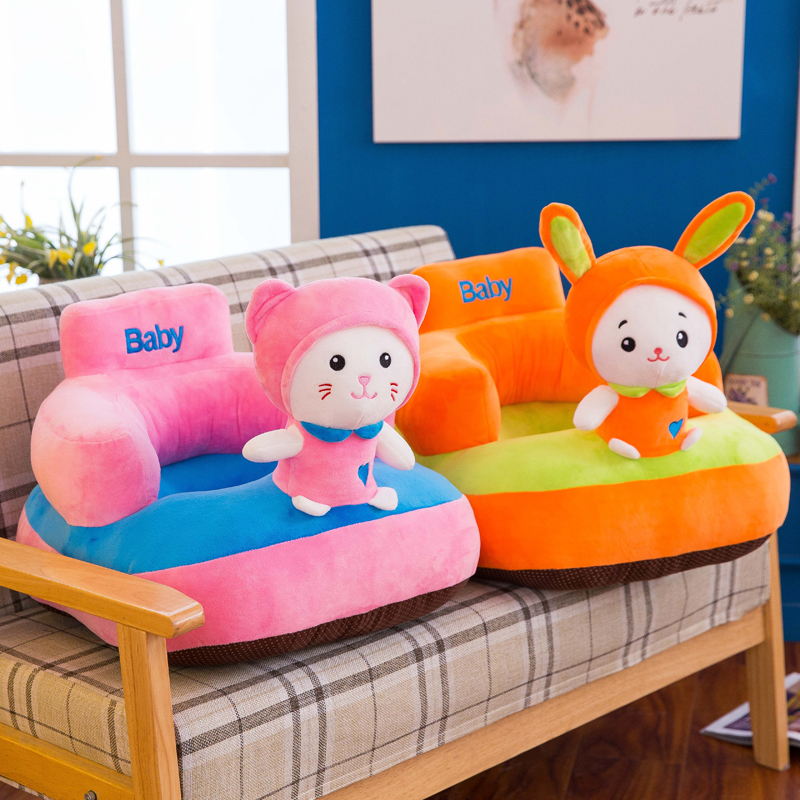 New Version Cute Soft Baby Support Seat Animal Style Children Kids Learning to sitting Chair seat Thick bottom For Newborn baby bill handley speed learning for kids