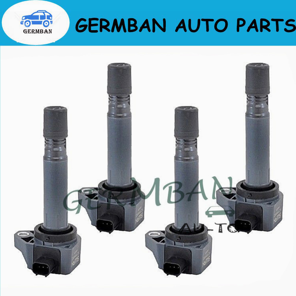 4pcs/lOT 30520-RNA-A01 099700-101 New Ignition Coils For Honda Civic 2006-2011 1.8L UF582 C1580 UF-582 30520 RNA A01 30520RNAA01