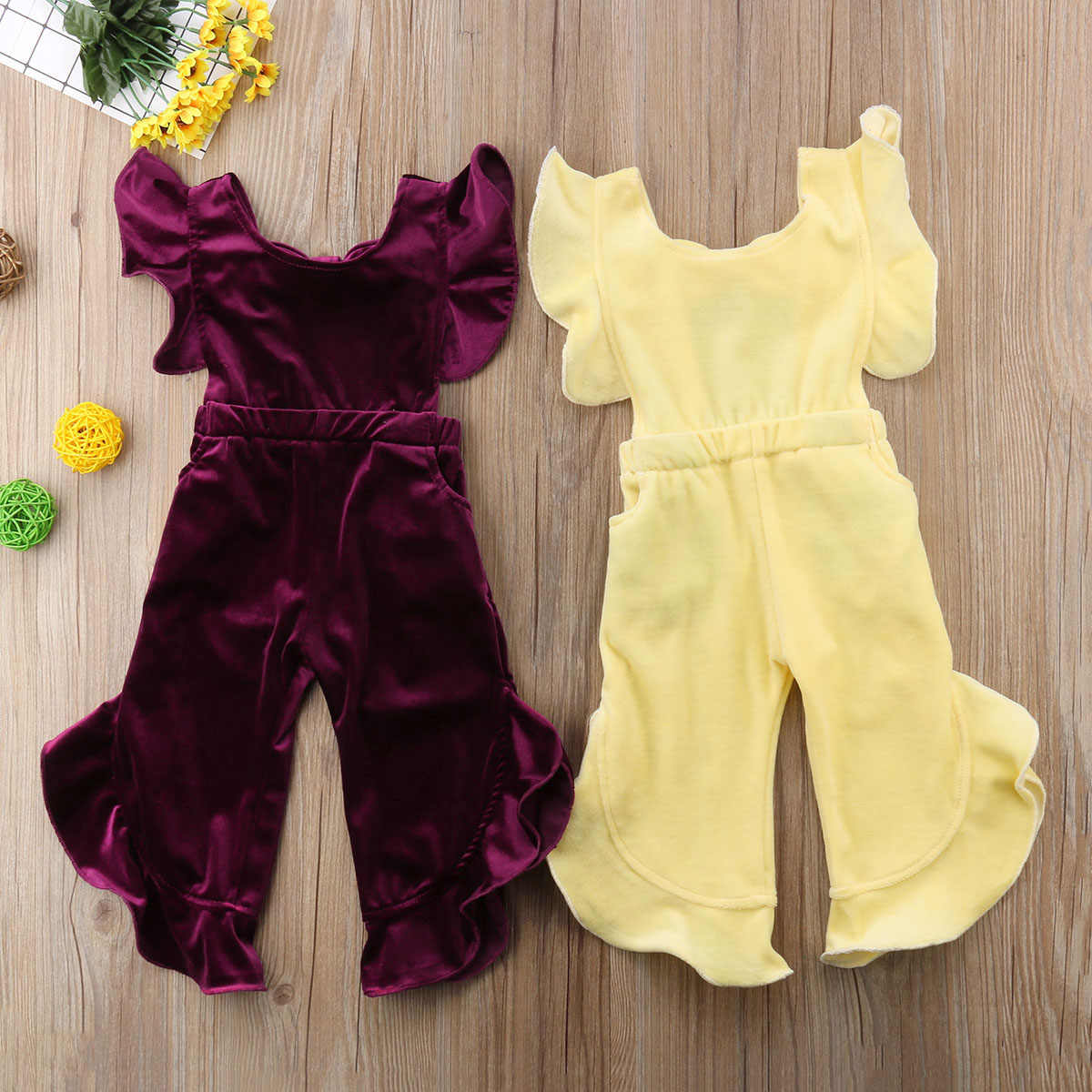 3a9ef7fa2c0 Detail Feedback Questions about Toddler Kids Baby Girl Clothes bow backless  Irregular sleeves Velvet Korean Velvet Long Romper Jumpsuit suede Sunsuit  Outfit ...