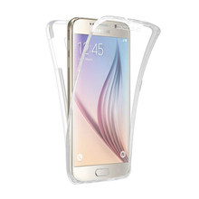 360 Degree Full Protective Case For Samsung Galaxy A3 A5 A7 2015 2016 2017 A 3 5 7 Cover Soft TPU Clear Coque Housing Etui(China)