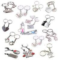 2pcs/set Couple Keychain Accessories