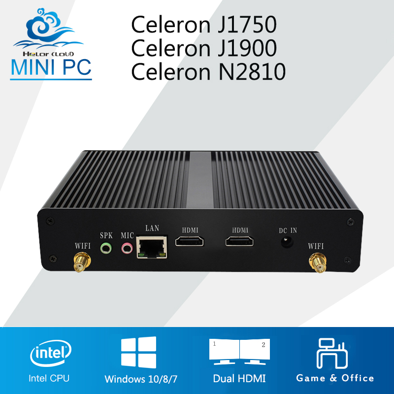 2 HDMI Mini PC Windows 10 Mini Computer Intel Celeron J1900 N2810 Dual HDMI Mini Computer PC HTPC Business Desktop PC TV Box hot sale celeron mini pc desktop computers dual lan mini pc x29 j1800 j1900 2 gigabit lan hdmi vga windows 7 win10 ubuntu