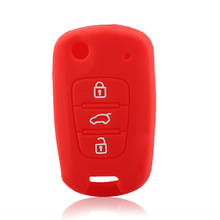 MAHAQI 3 Buttons Silicone Car Key Cover Fit For Hyundai i20 i30 i35 iX20 iX35 ix30 Solaris Verna Folding Key Silicone Shell Hot