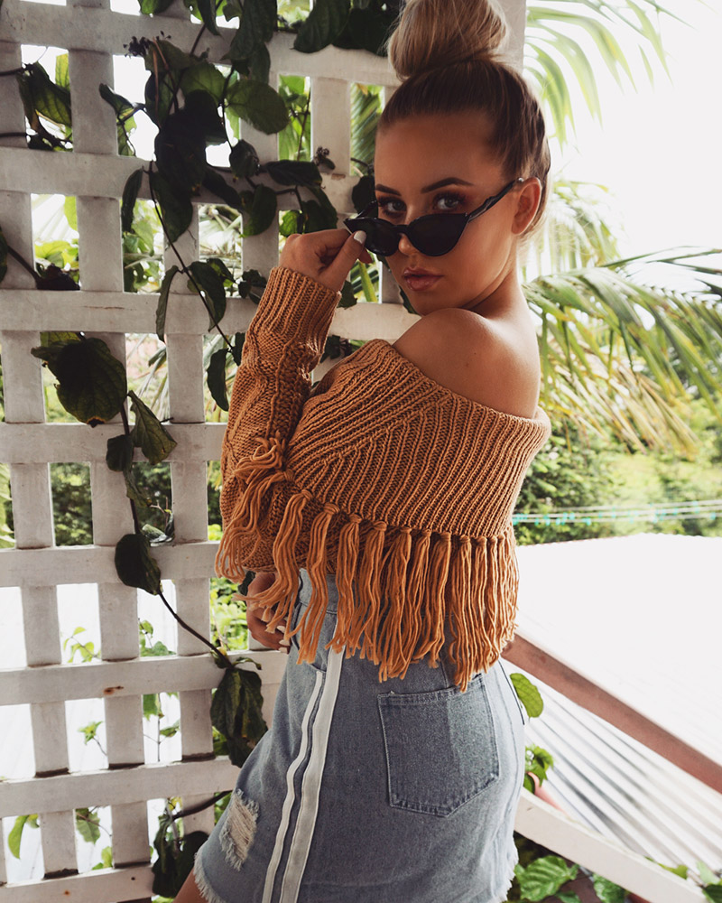 Off The Shoulder Sweater Women (3)