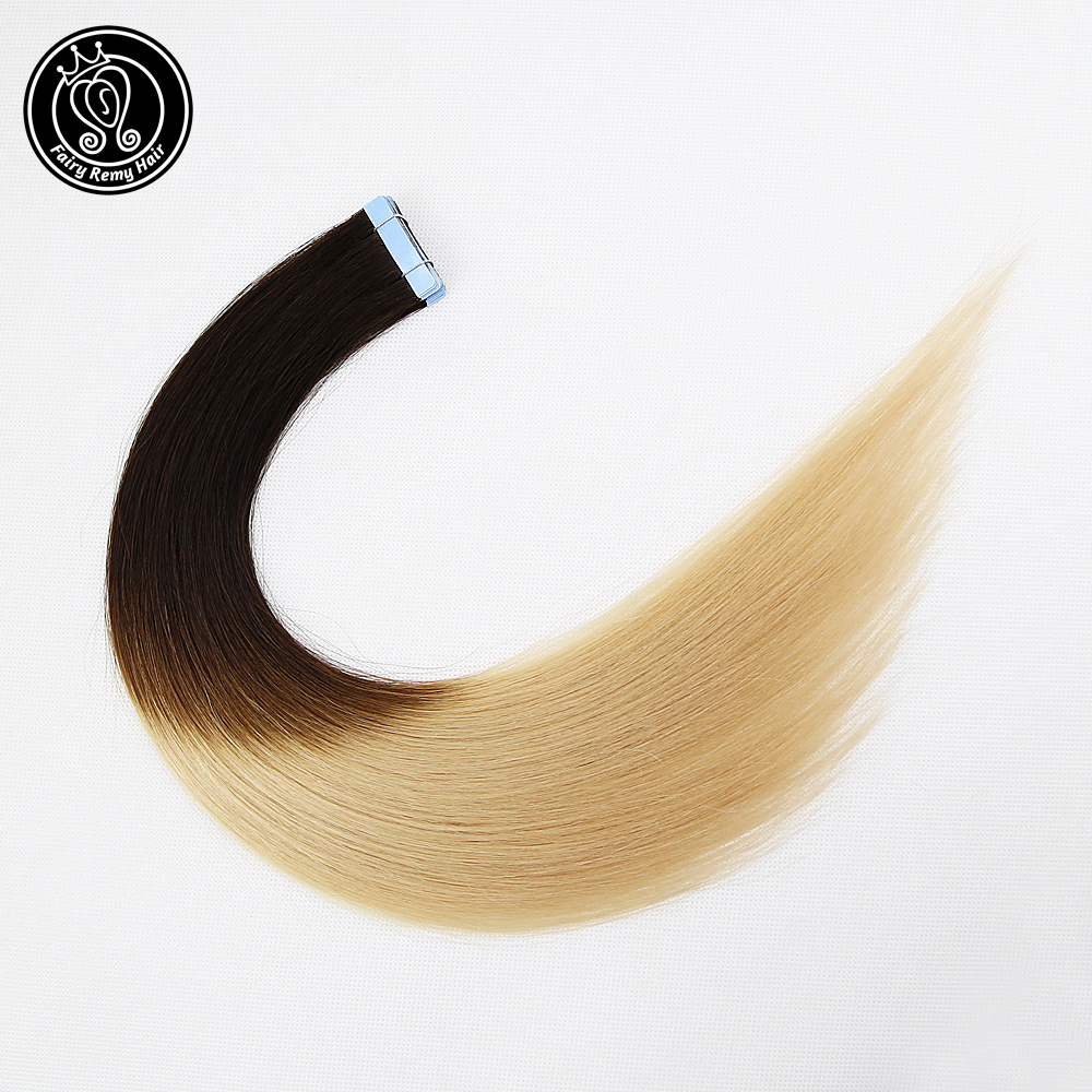 Tape In Hair Extensions 100% Human Remy Hair Adhesive Invisible PU Skin Weft Ombre Balayage Highlight Color 2.0g/pc 18 Inch 40g