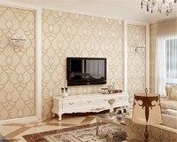 Beibehang بسيط الأوروبي محبوكة papel دي parede 3d خلفيات الفاخرة غرفة المعيشة التلفزيون خلفية خلفيات غرف الهواء الأرجواني