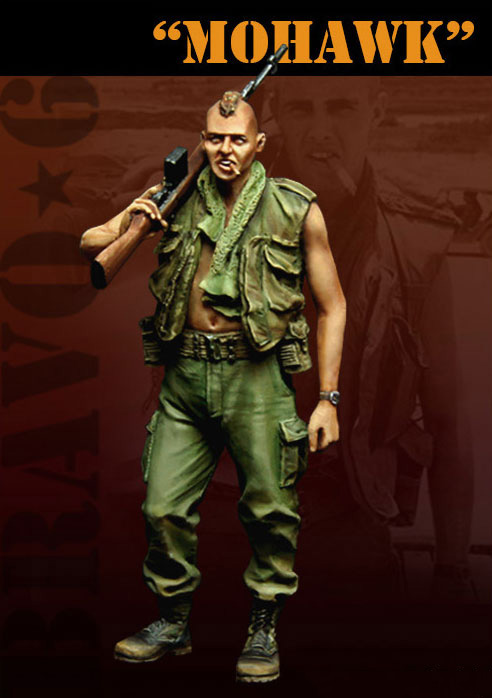 Scale Models <font><b>1</b></font>/ <font><b>35</b></font> special <font><b>Vietnam</b></font> <font><b>War</b></font> STAND Mohawk man <font><b>figure</b></font> Historical <font><b>Resin</b></font> Model image