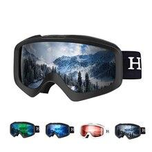 7dfd0f15e7 RedMaple Ski Goggles Men Women Spherical Double Layer Lens UV400 Anti-Slip  Strap Anti Fog