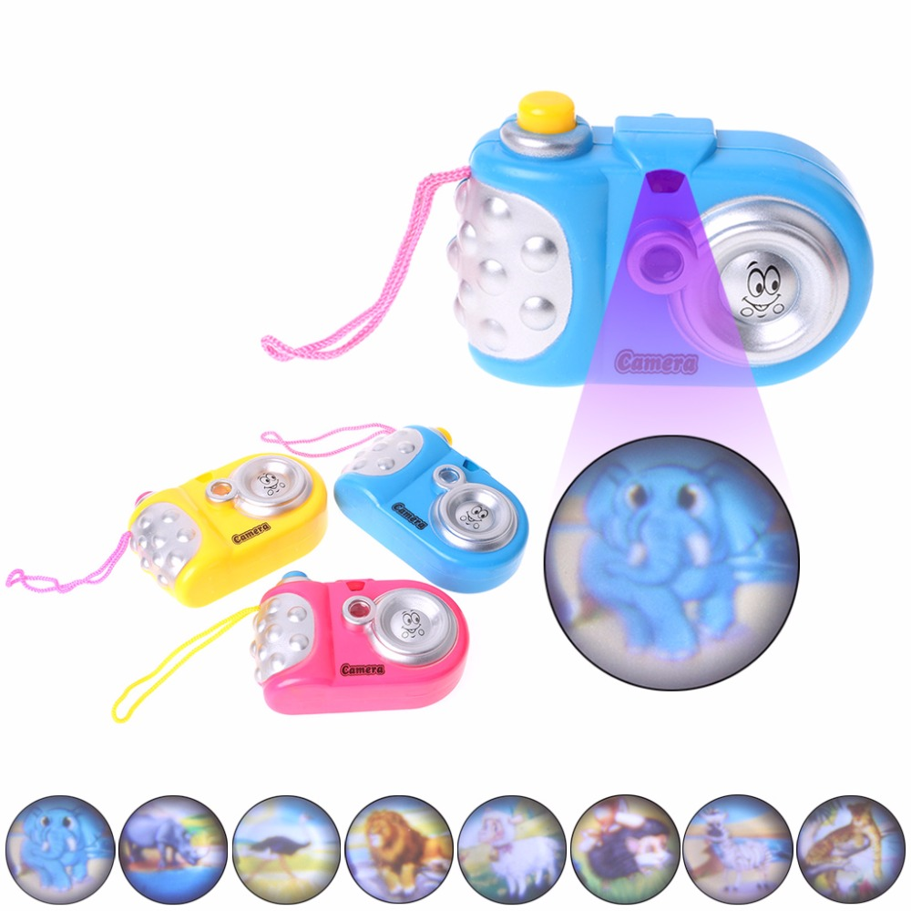 Educational Projection Camera LED Light Learn Study Toy For Kids Children