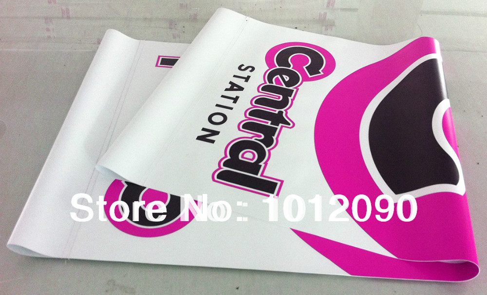 행잉 PVC 배너 (걸 이용 위아래 소매) / 광고 배너